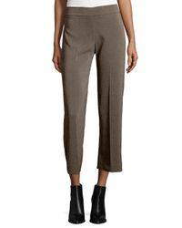 Avenue Montaigne | Brown Alex Wide-leg Crop Pants | Lyst