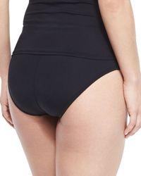 La Blanca - Black High-waisted Tummy Toner Swim Bottom - Lyst