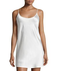 La Perla Natural Short Sleeveless Silk Chemise