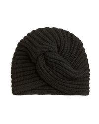 Rosie Sugden   Black Cashmere Turban-style Beanie Hat   Lyst