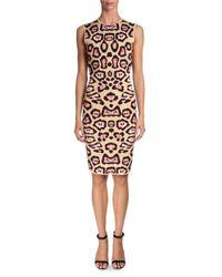 Givenchy | Brown Jaguar Printed Milano Jersey Dress | Lyst