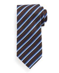 Ermenegildo Zegna | Blue Textured Stripe Silk Tie for Men | Lyst