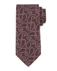 Ermenegildo Zegna | Purple Heathered Paisley-print Tie for Men | Lyst