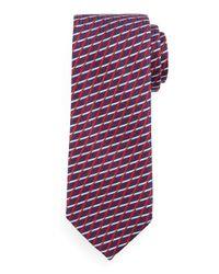 Ermenegildo Zegna | Red Geometric Diamond-lattice Print Tie for Men | Lyst