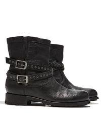 Jimmy Choo - Black Elle Buckle Leather Biker Boot - Lyst