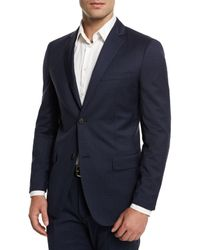 Theory | Blue Rodolf Textured Jacquard Two-button Wool Jacket for Men | Lyst
