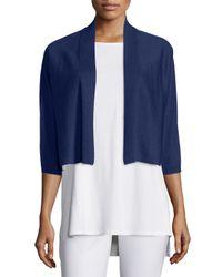 Eileen Fisher | Blue 3/4-sleeve Kimono Cardigan | Lyst
