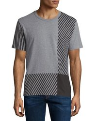 Burberry Brit | Gray Franklin Graphic-check Short-sleeve T-shirt for Men | Lyst