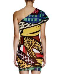 Stella McCartney Multicolor One-shoulder Printed Sheath Dress