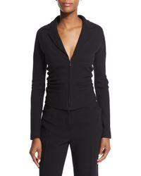 The Row Black Talina Wool Jacket