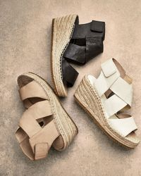 Eileen Fisher White Willow Leather Espadrilles