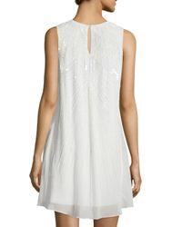 Parker - White Peony Sleeveless Embellished Dress - Lyst