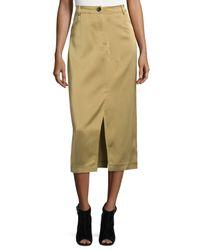 Opening Ceremony   Natural High-waist Slim Midi Skirt   Lyst