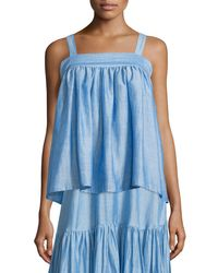 Co. - Blue Sleeveless A-line Top - Lyst