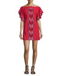 Townsen - Bogo Off-the-shoulder Embroidered Dress - Lyst