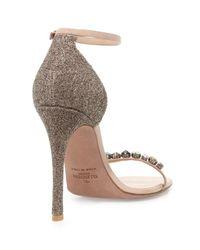 Valentino   Metallic Embellished Glitter Naked Sandal   Lyst