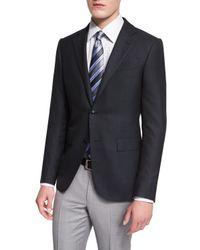 Ermenegildo Zegna | Black Milano Solid Twill Two-button Jacket for Men | Lyst