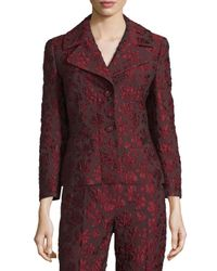 ESCADA | Multicolor 3/4-sleeve Two-button Jacquard Jacket | Lyst