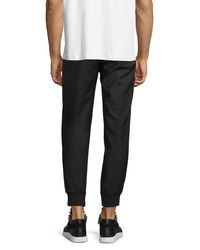 McQ - Black Tailored Wool Track Pants for Men - Lyst
