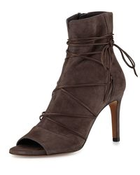 Vince - Brown Adisa Lace-up Open-toe Ankle Boot - Lyst