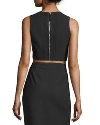 Elizabeth and James - Black Bowen Sleeveless Crepe Cropped Top - Lyst