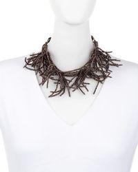 Brunello Cucinelli   Black Beaded Branch Choker Necklace   Lyst