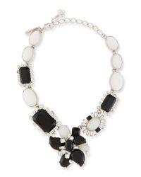 Oscar de la Renta   Metallic Bold Multi-crystal Statement Necklace   Lyst
