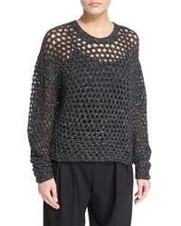 IRO | Black Montero Netted Pullover Sweater | Lyst