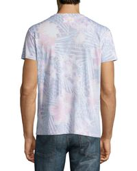 Sol Angeles - Blue Botanica Tropical-print V-neck T-shirt for Men - Lyst