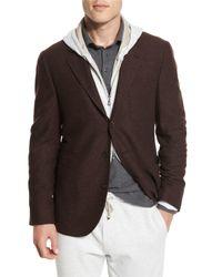 Brunello Cucinelli | Brown Deconstructed Three-button Sport Coat for Men | Lyst