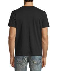 PRPS - Black Cherub Logo Tee W/ Back Pane for Men - Lyst