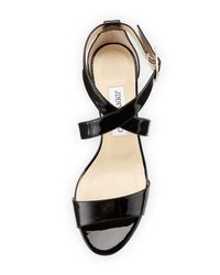 Jimmy Choo Black Chiara Demi-wedge Crisscross Sandal