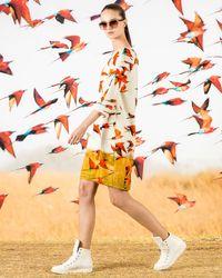 Akris - Multicolor 3/4-sleeve Karminspint-print Shift Dress - Lyst