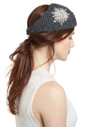 Jennifer Behr Brown Embellished Wool Starburst Headband