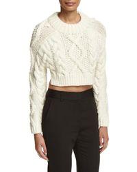 DKNY   Multicolor Cropped Wool Open-back Sweater   Lyst
