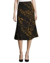 Lafayette 148 New York | Black Johanna Leopard-print A-line Skirt | Lyst