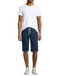 True Religion - Blue Contrast-stitch Cutoff Shorts for Men - Lyst
