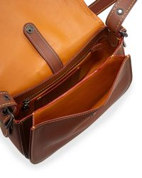 COACH - Brown 23 Leather Saddle Bag - Lyst