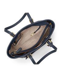 MICHAEL Michael Kors - Blue Jet Set Travel Medium Saffiano Tote Bag - Lyst