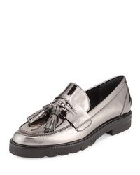 Stuart Weitzman - Multicolor Manila Leather Tassel Loafers - Lyst