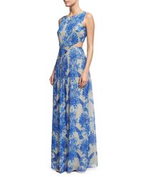 Nicole Miller | Blue Queen Of The Night Printed Gown | Lyst