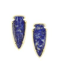 Kendra Scott | Blue Kathryn Arrowhead Earrings | Lyst
