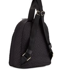 Tory Burch - Black Ella Quilted Nylon Backpack - Lyst