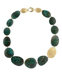 Marco Bicego - Green Materica Dark Chrysocolla Collar Necklace - Lyst