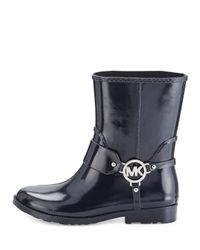 MICHAEL Michael Kors Blue Fulton Harness Short Rubber Rain Boots