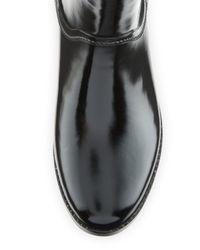 MICHAEL Michael Kors Black Larson Lace-Back Short Rain Boot