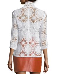 Ba&sh - White Elia Lace 3/4-sleeve Top - Lyst