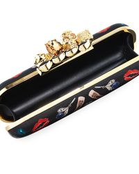 Alexander McQueen   Black Obsession Knuckle Box Clutch Bag   Lyst