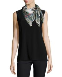 Johnny Was - Black Kella Printed Silk Scarf - Lyst