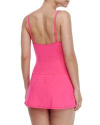 La Blanca - Pink Ruched Sweetheart One-piece Swimdress - Lyst